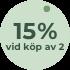 15% vid köp av två
