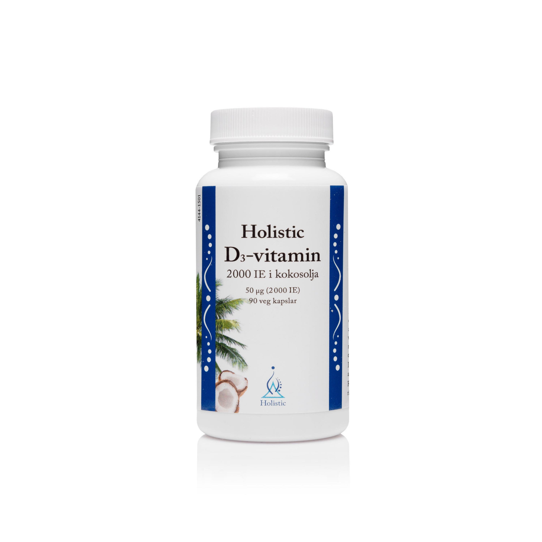 D-vitamin 2000IE i kokosolja 90k